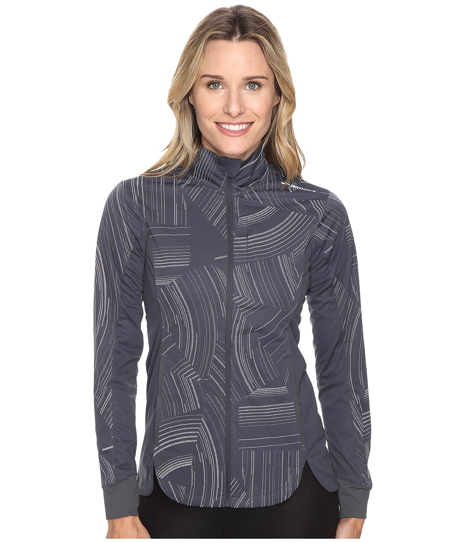 Brooks - Drift Shell (Asphalt Reflective Cosmo) Women's Coat