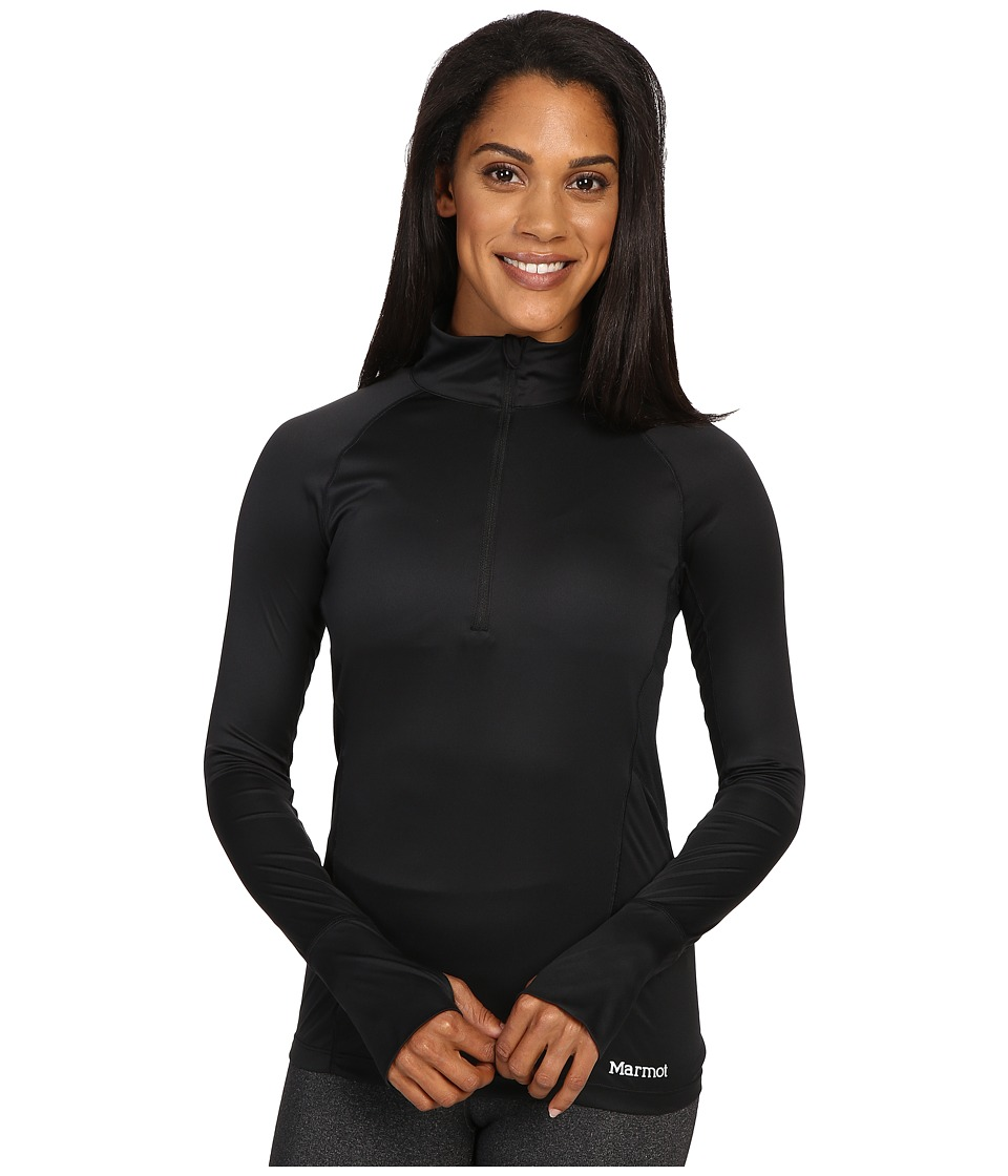 Marmot - Interval Half-Zip Long Sleeve (Black) Women's Long Sleeve Pullover