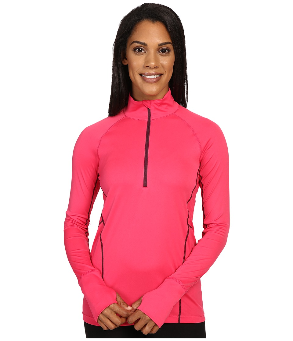 Marmot - Interval Half-Zip Long Sleeve (Pink Rock/Dark Purple) Women's Long Sleeve Pullover