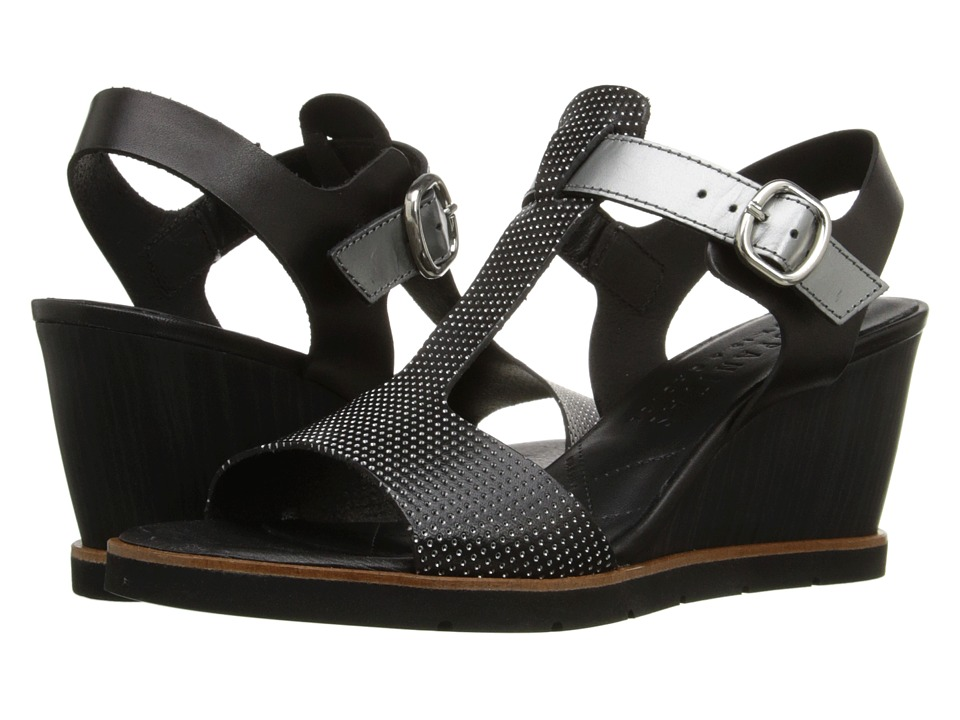 Hispanitas - Rhapsody (Vachetta Black/Vachetta Black/Glow Acero) Women's Wedge Shoes