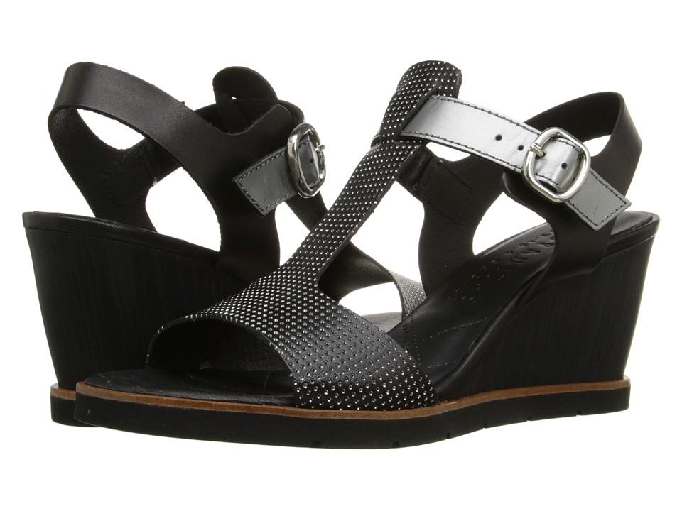 Hispanitas - Rhapsody (Vachetta Black/Vachetta Black/Glow Acero) Women's Wedge Shoes