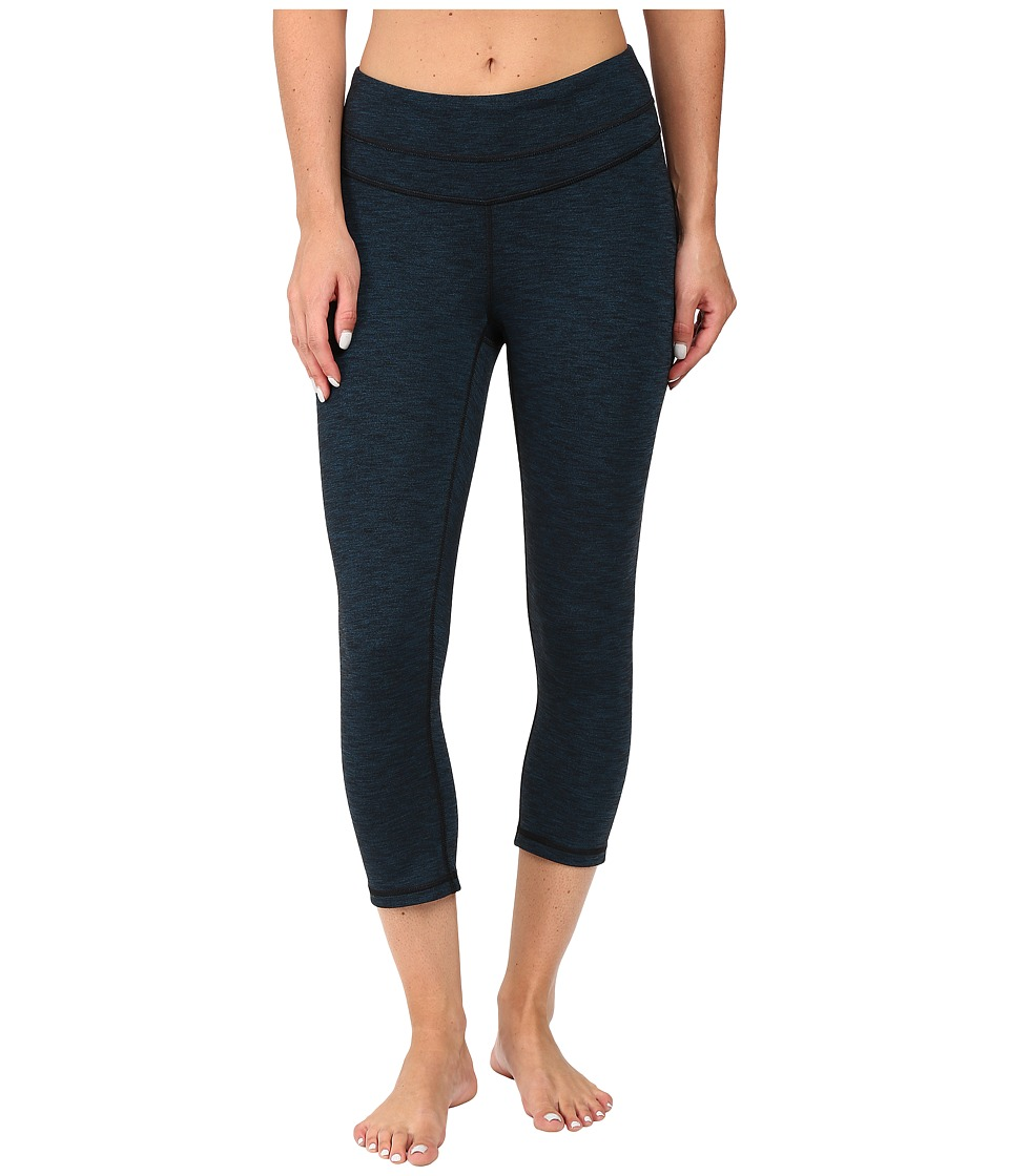 Lucy - Studio Hatha Capri Legging (Cyprus/Lucy Black Heather) Women's Capri