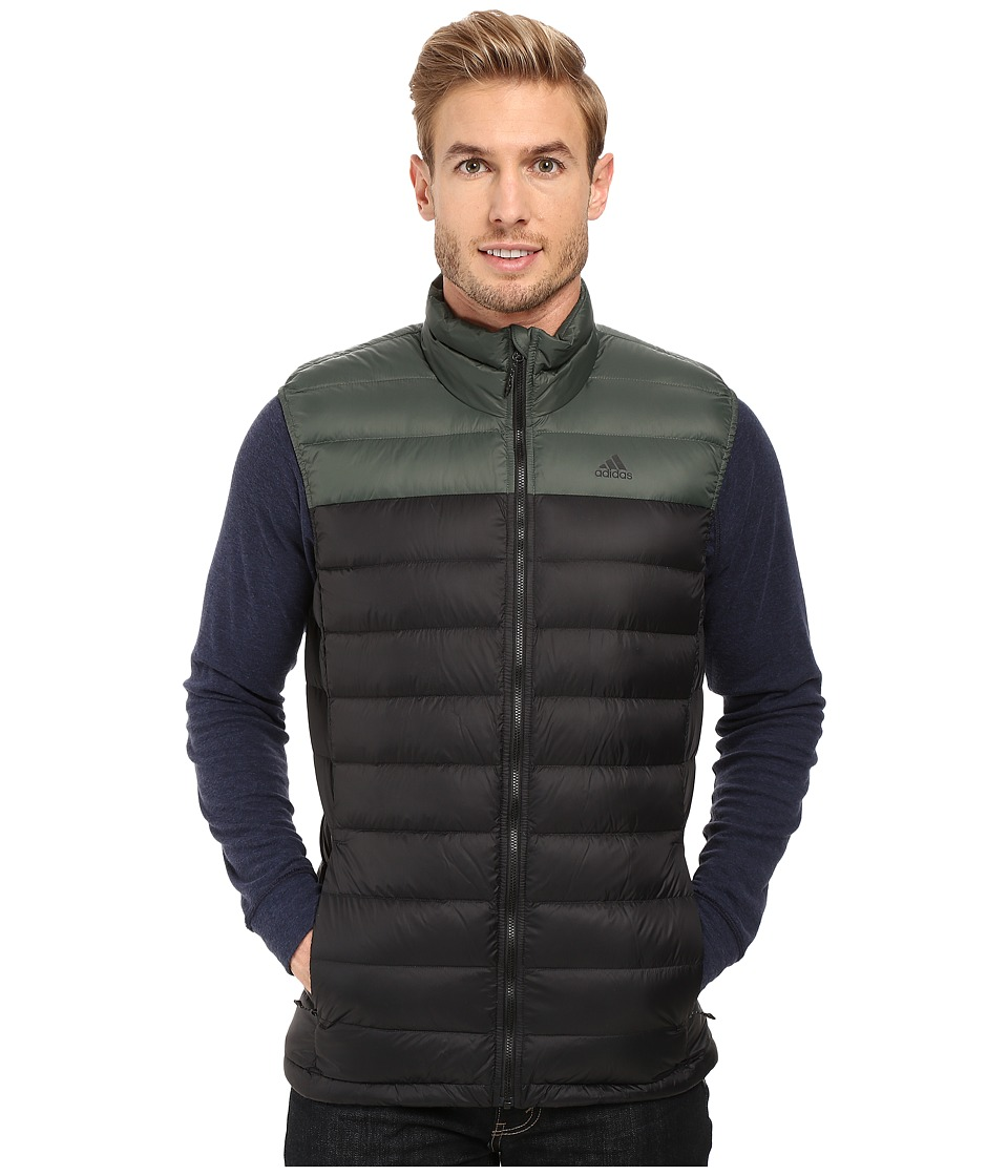 adidas Outdoor - Light Down Vest (Black/Utility Ivy) Men's Vest