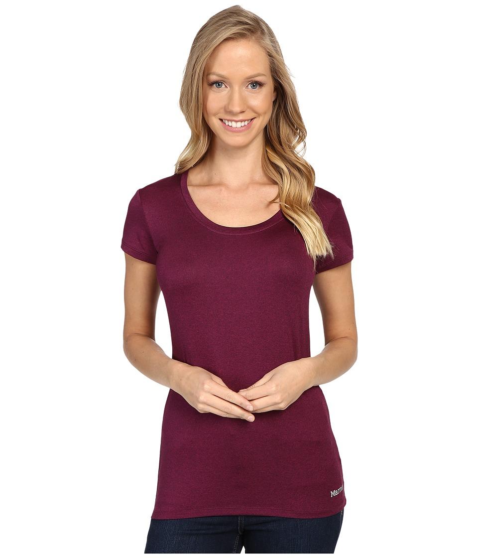 Marmot - All Around Tee S/S (Magenta Heather) Women's T Shirt