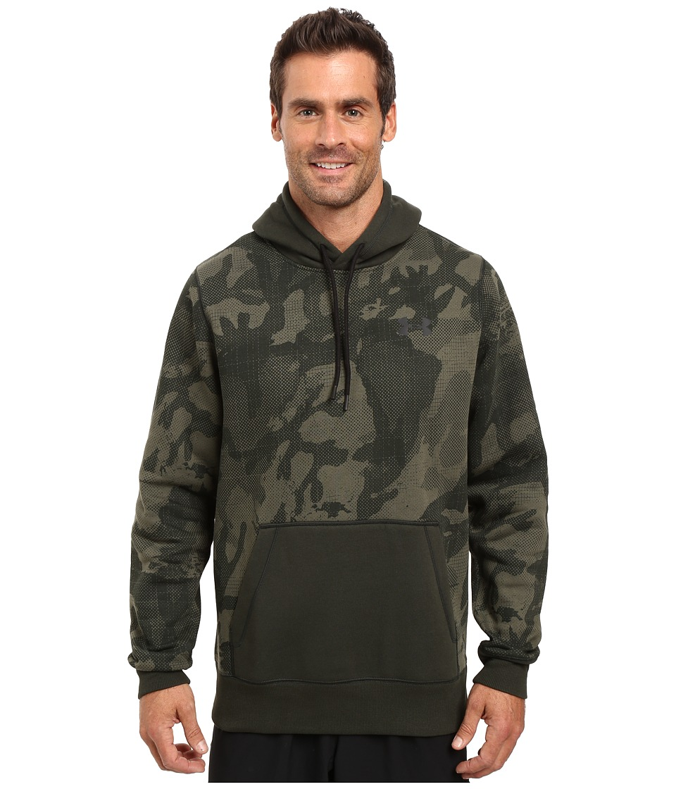 Under Armour - Rival Printed Pullover Hoodie (Artillery Green/Artillery Green/Black) Men's Sweatshirt