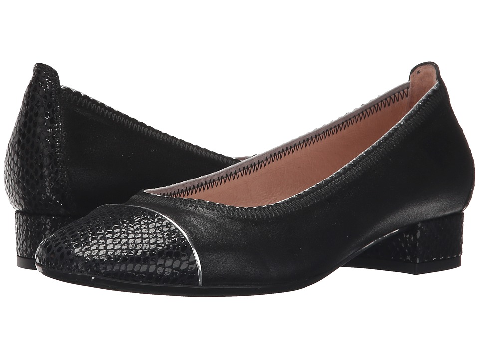 Hispanitas - Marjorie (Whips Black/Magic Black/Glow Silver) Women's Flat Shoes