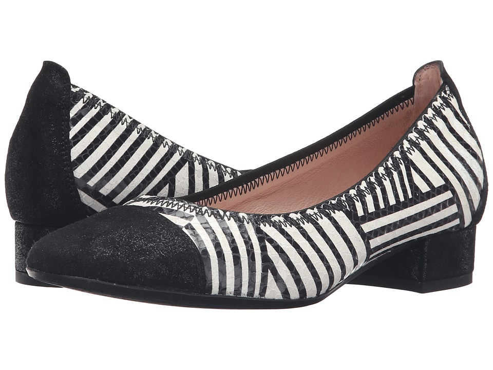 Hispanitas - Makenna (Magic Black/Stripe Bone) Women's Flat Shoes