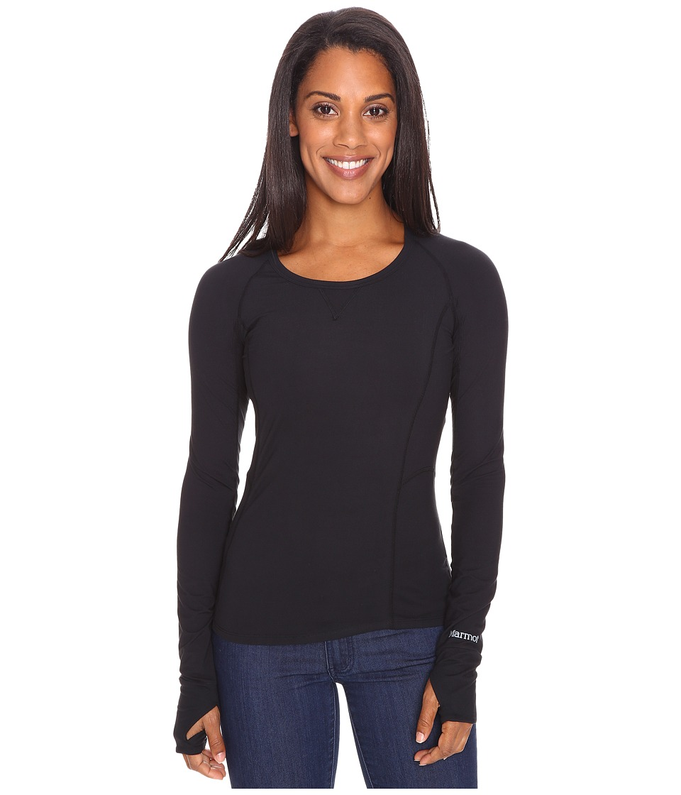 Marmot Lana Long Sleeve Crew (Black) Women
