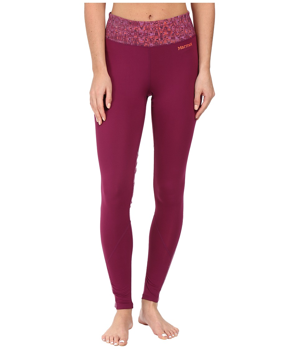 Marmot - Lana Tights (Magenta/Magenta Terrain) Women's Casual Pants