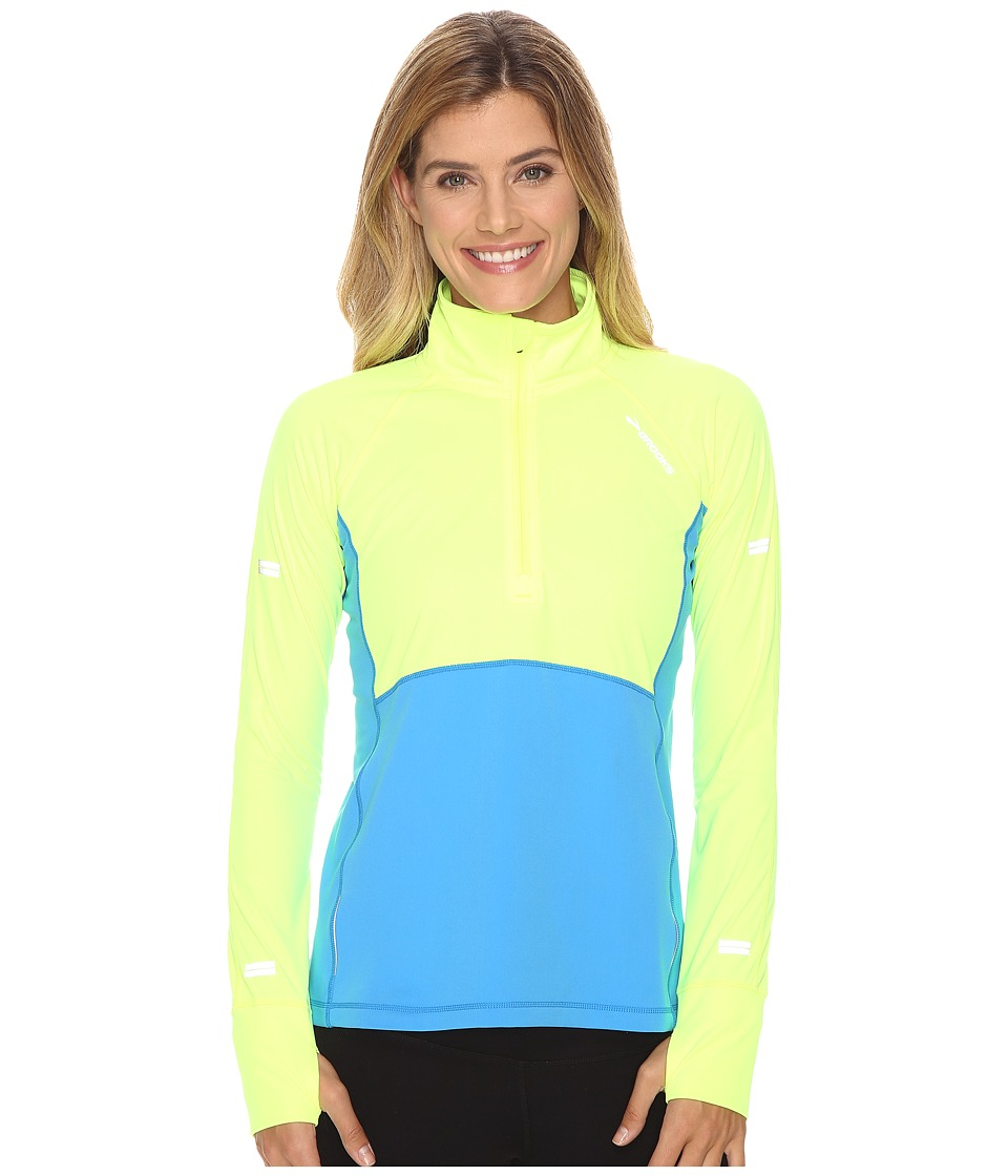 Brooks - Drift 1/2 Zip (Nightlife/Ultra Blue) Women's Long Sleeve Pullover