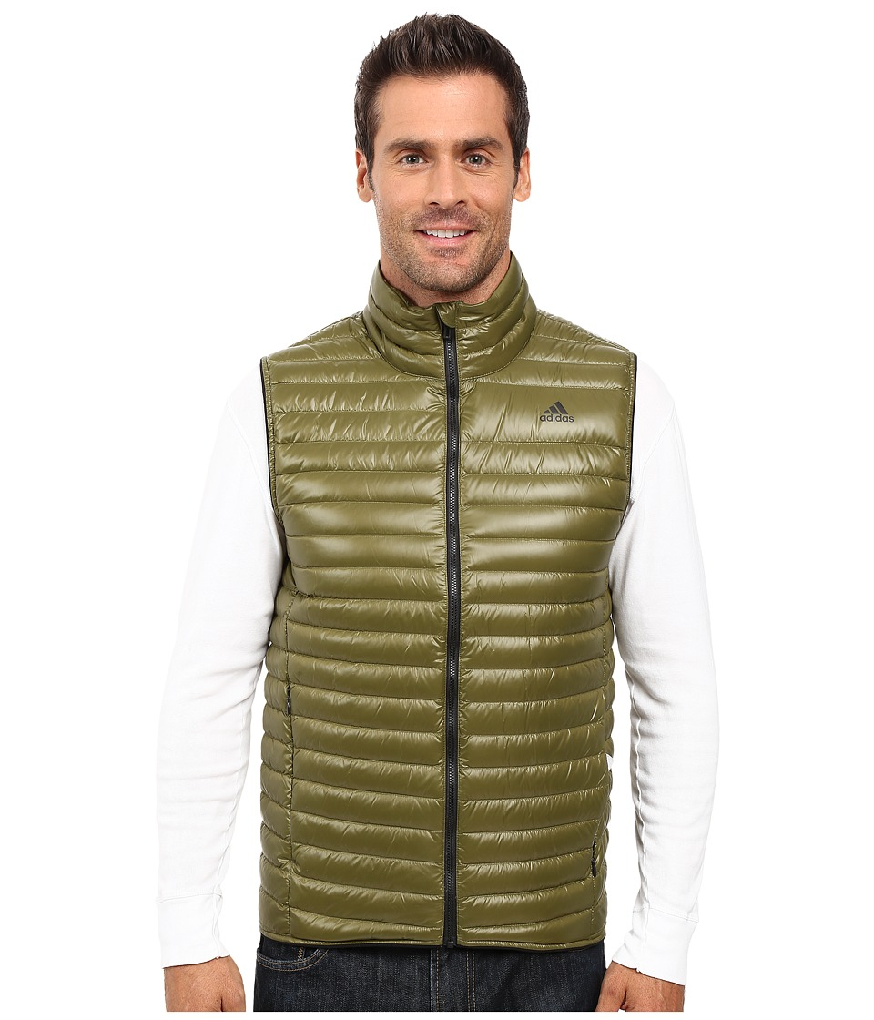 adidas Outdoor - Super Light Down Vest (Oilve Cargo) Men's Vest
