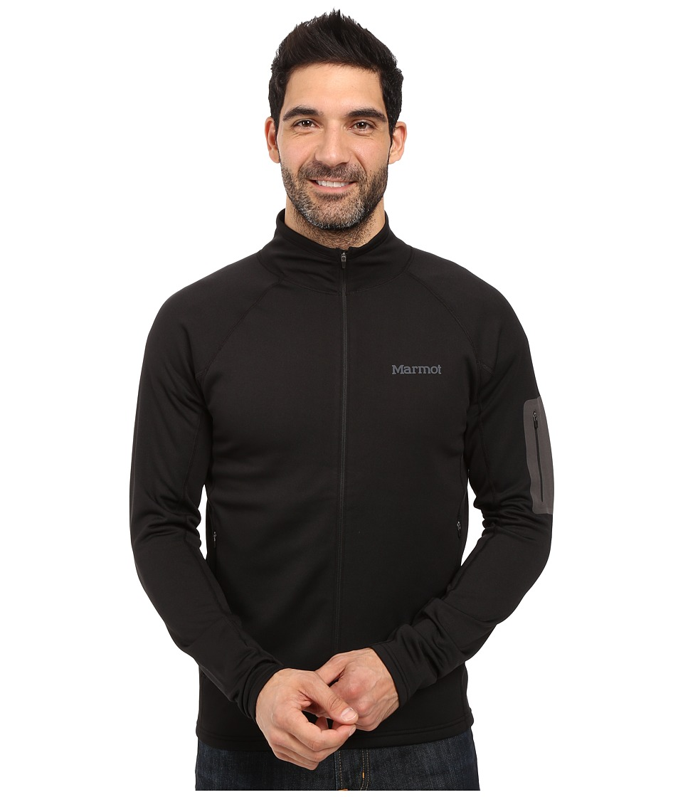 Marmot - Stretch Fleece Jacket (Black) Men's Fleece