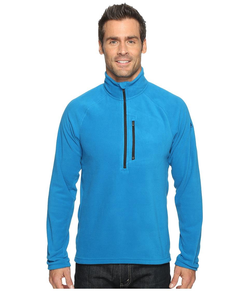 adidas Outdoor - Reachout 1/2 Zip Fleece (Unity Blue) Men's Fleece