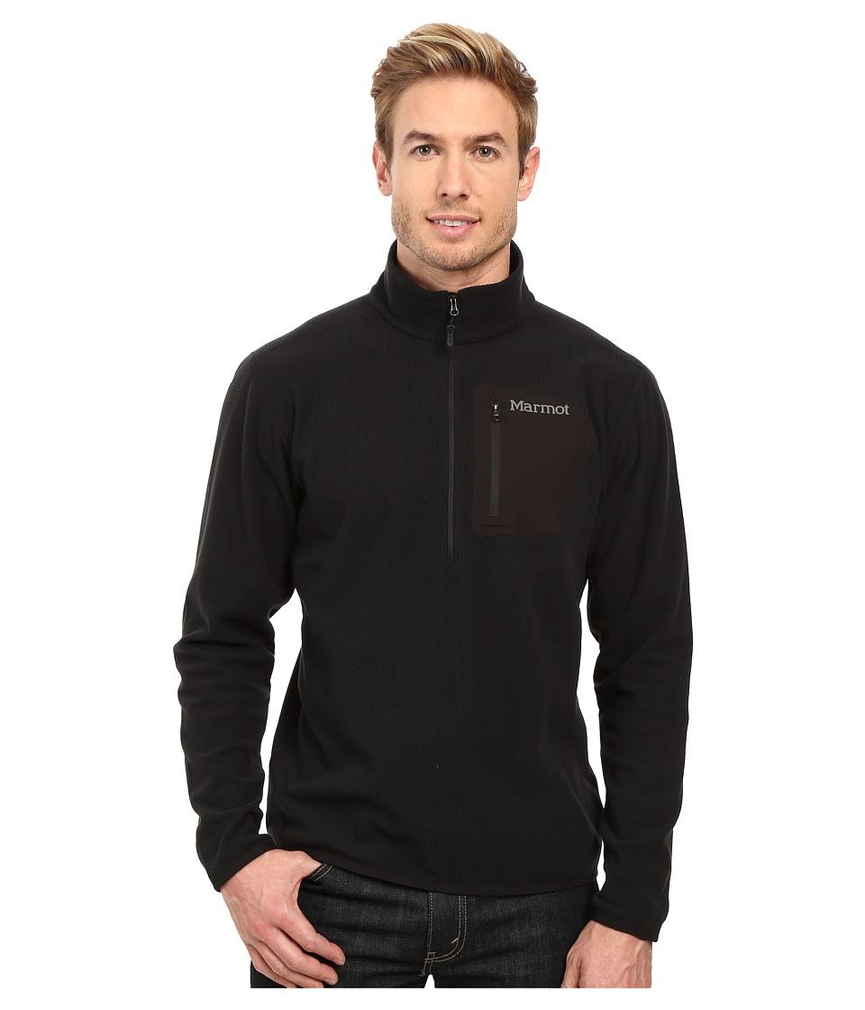 Marmot - Rangeley 1/2 Zip (Black) Men's Long Sleeve Pullover