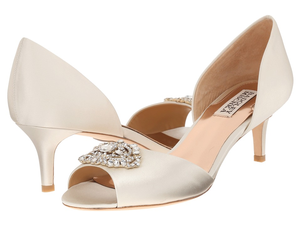 Badgley Mischka - Petrina (Ivory Satin) High Heels