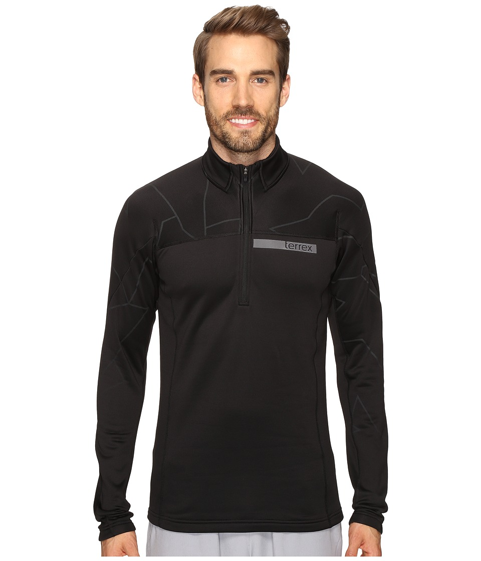 adidas Outdoor - Terrex Icesky Long Sleeve II Top (Black/Utility Black) Men's Long Sleeve Pullover