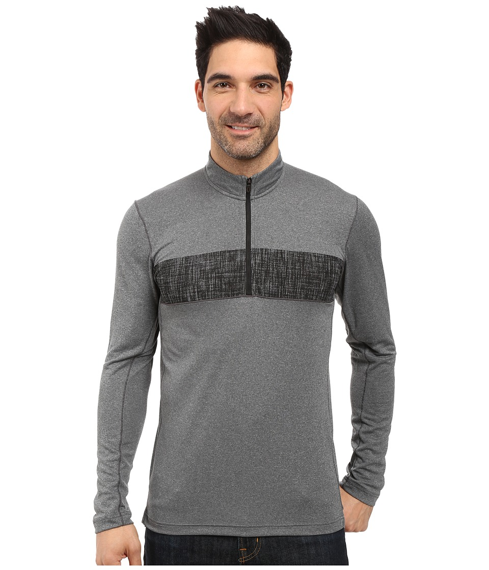 adidas Outdoor - 1/2 Zip Long Sleeve Top (Utility Black) Men's Long Sleeve Pullover