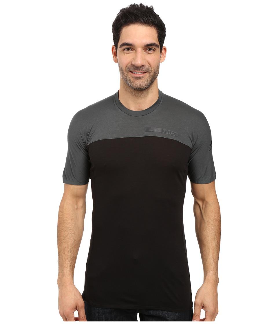 adidas Outdoor - Terrex Solo Tee (Black) Men's T Shirt