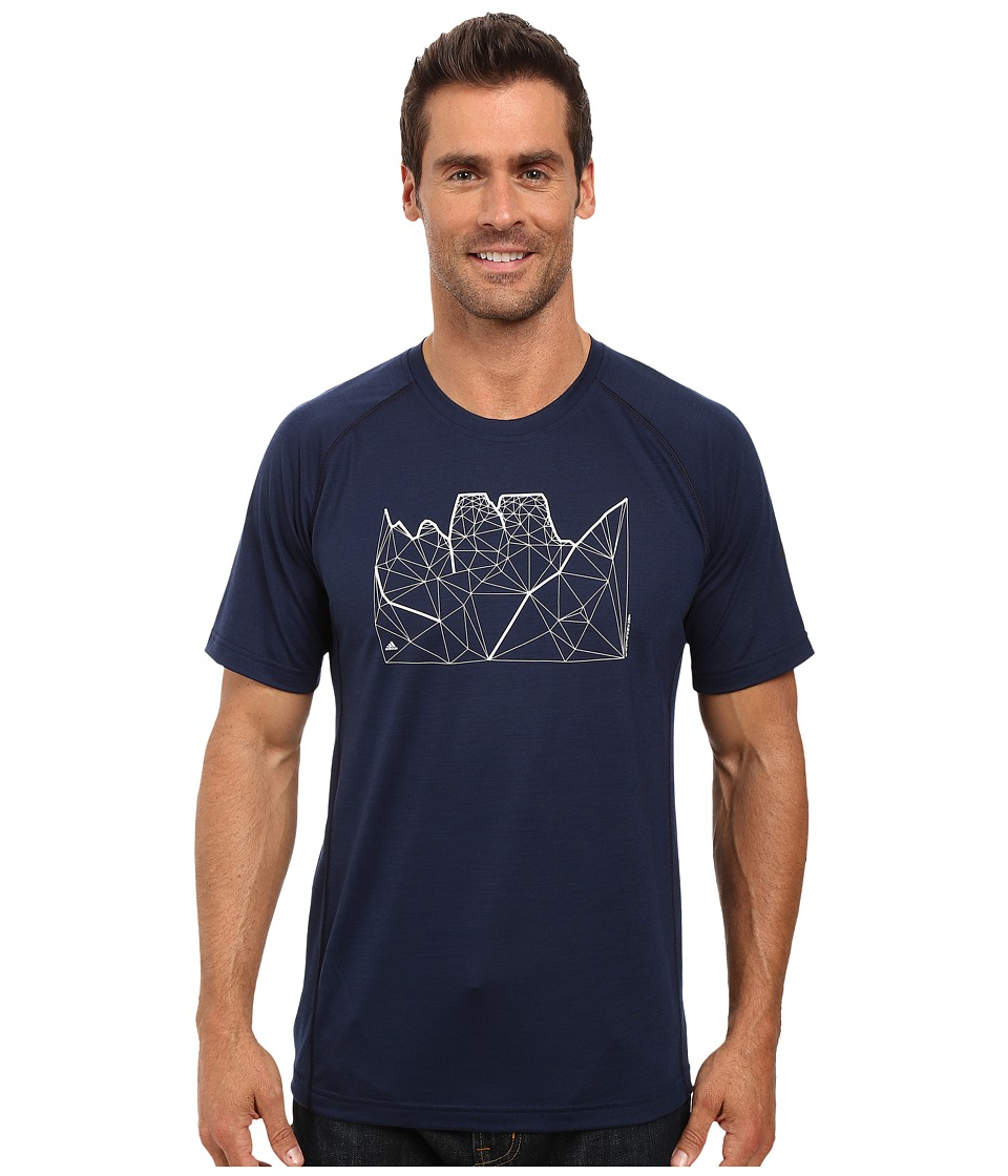 adidas Outdoor - Wool Tee (Collegiate Navy) Men's T Shirt