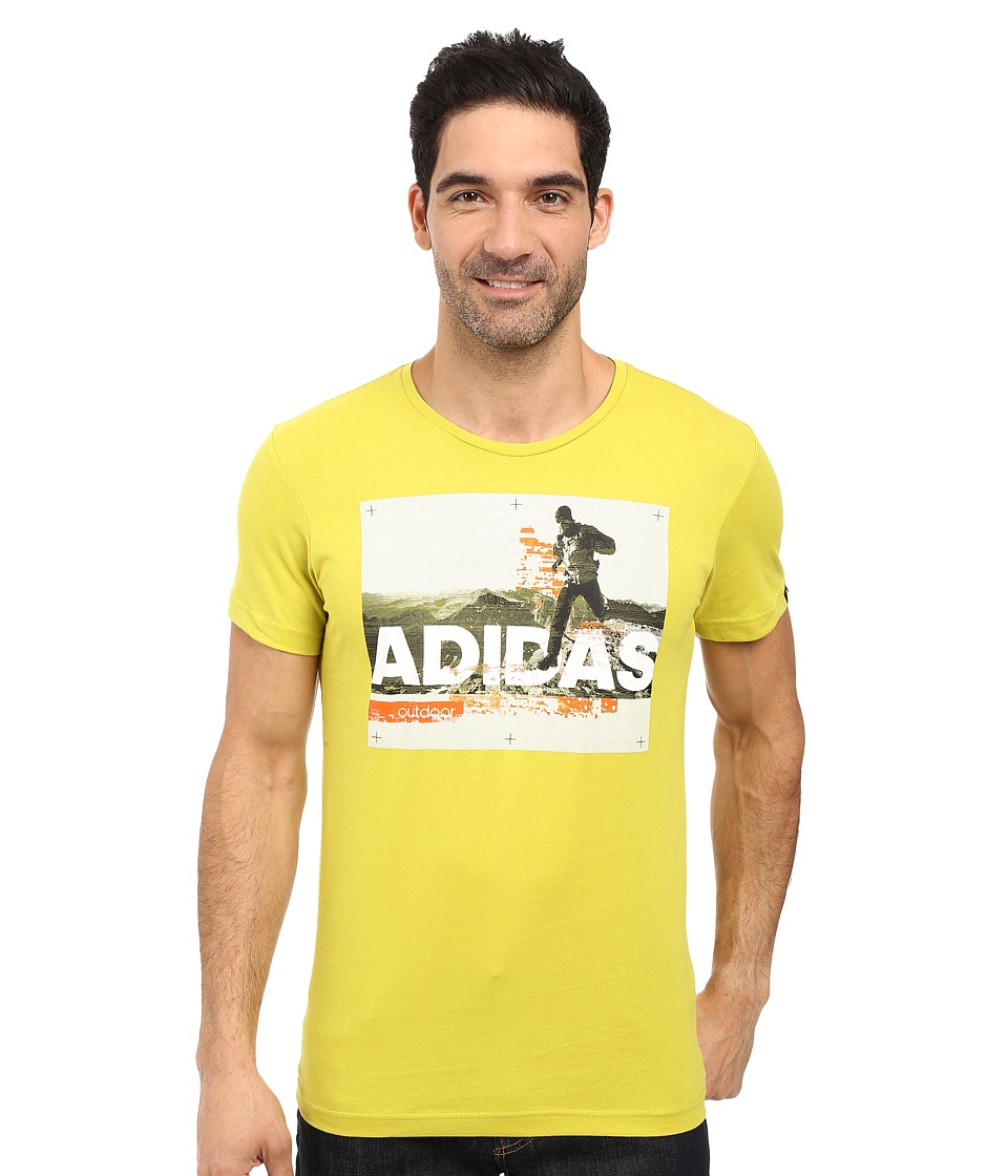 adidas Outdoor - Trail Running Tee (Unity Lime) Men's T Shirt