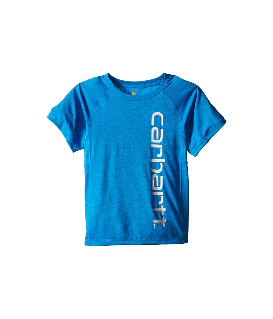 Carhartt Kids - Force Pieced Raglan Tee (Toddler/Little Kids) (Blithe Heather) Boy's Short Sleeve Pullover