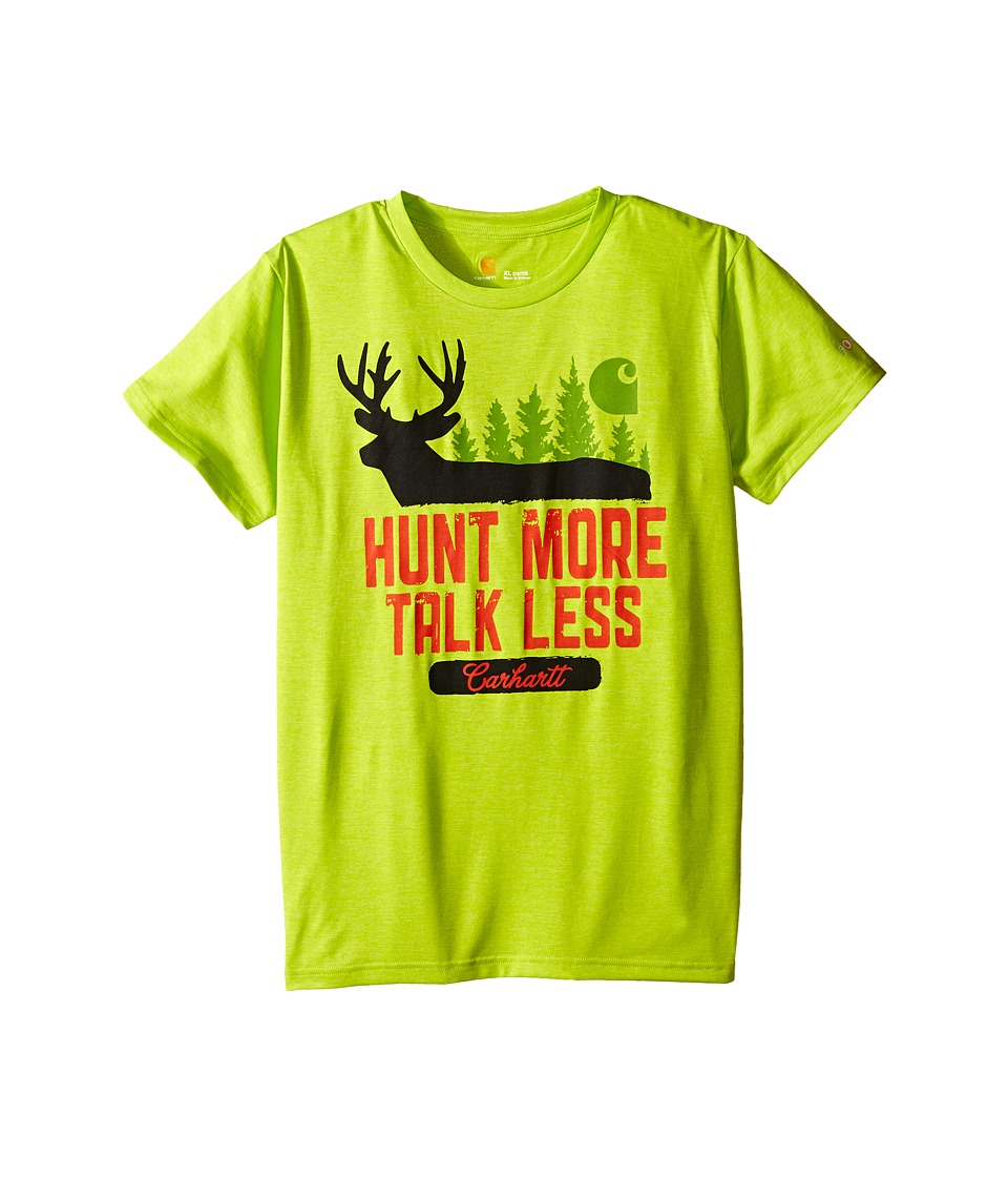 Carhartt Kids - Hunt More Force Tee (Big Kids) (Sour Apple) Boy's Short Sleeve Pullover