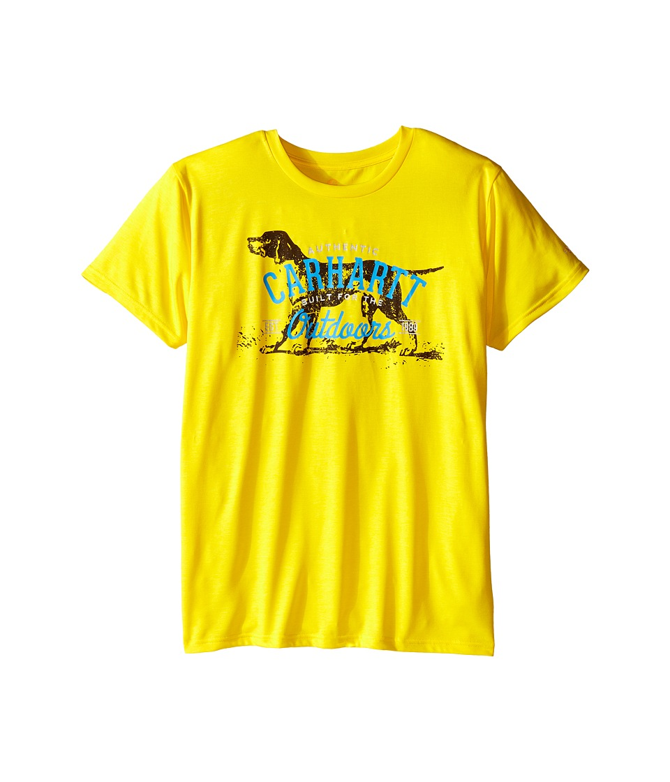 Carhartt Kids - Outdoors Force Tee (Big Kids) (Cyber Yellow) Boy's Short Sleeve Pullover