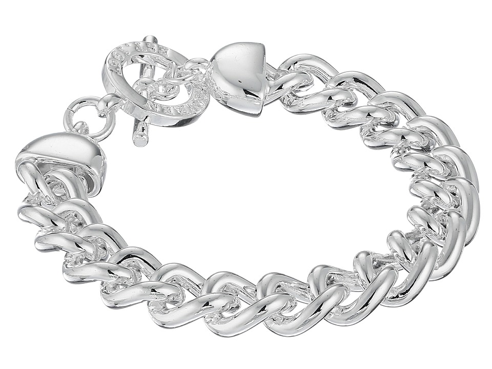 LAUREN Ralph Lauren - Curb Chain with Ring Bracelet (Silver) Bracelet