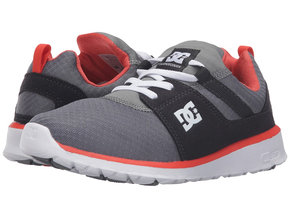 DC Kids - Heathrow (Big Kid) (Grey/Orange/Grey) Boys Shoes