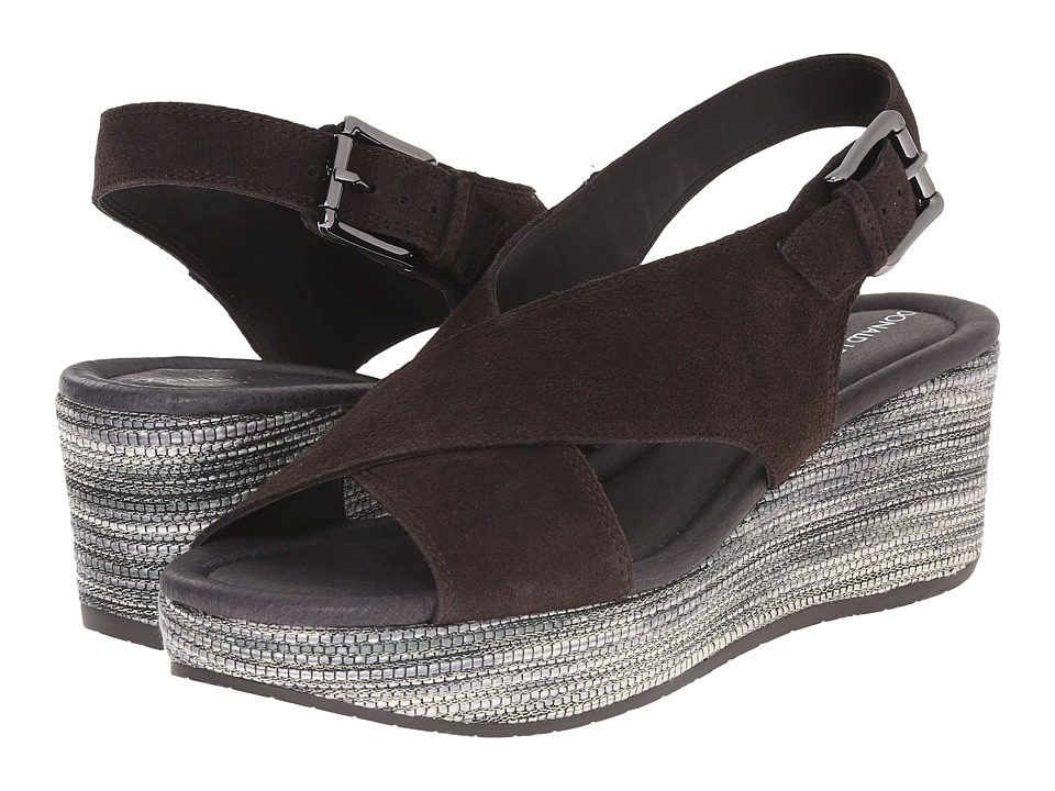 Donald J Pliner - Sahar (Dark Brown/Gray) Women's Wedge Shoes