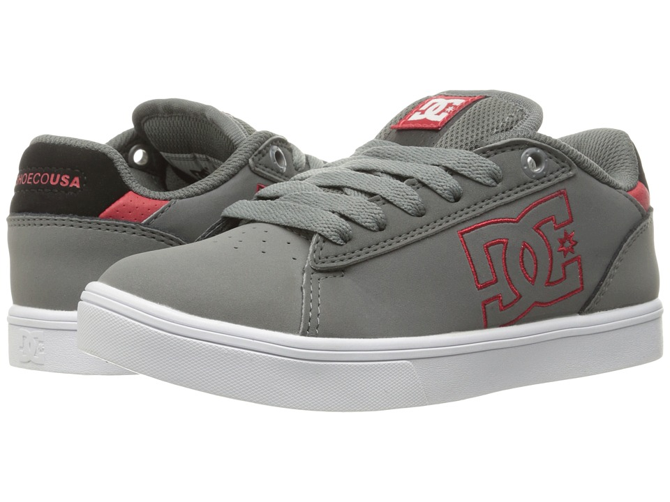 DC Kids - Notch (Little Kid) (Grey/Black/Red) Boys Shoes