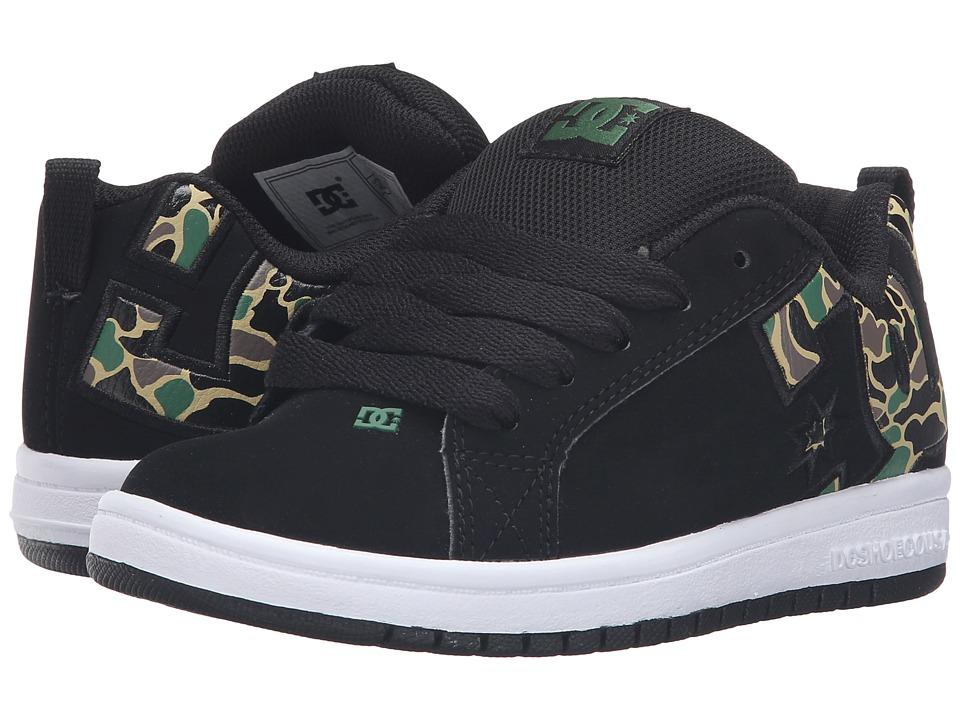 DC Kids - Court Graffik SE (Little Kid) (Black/Camo) Boys Shoes