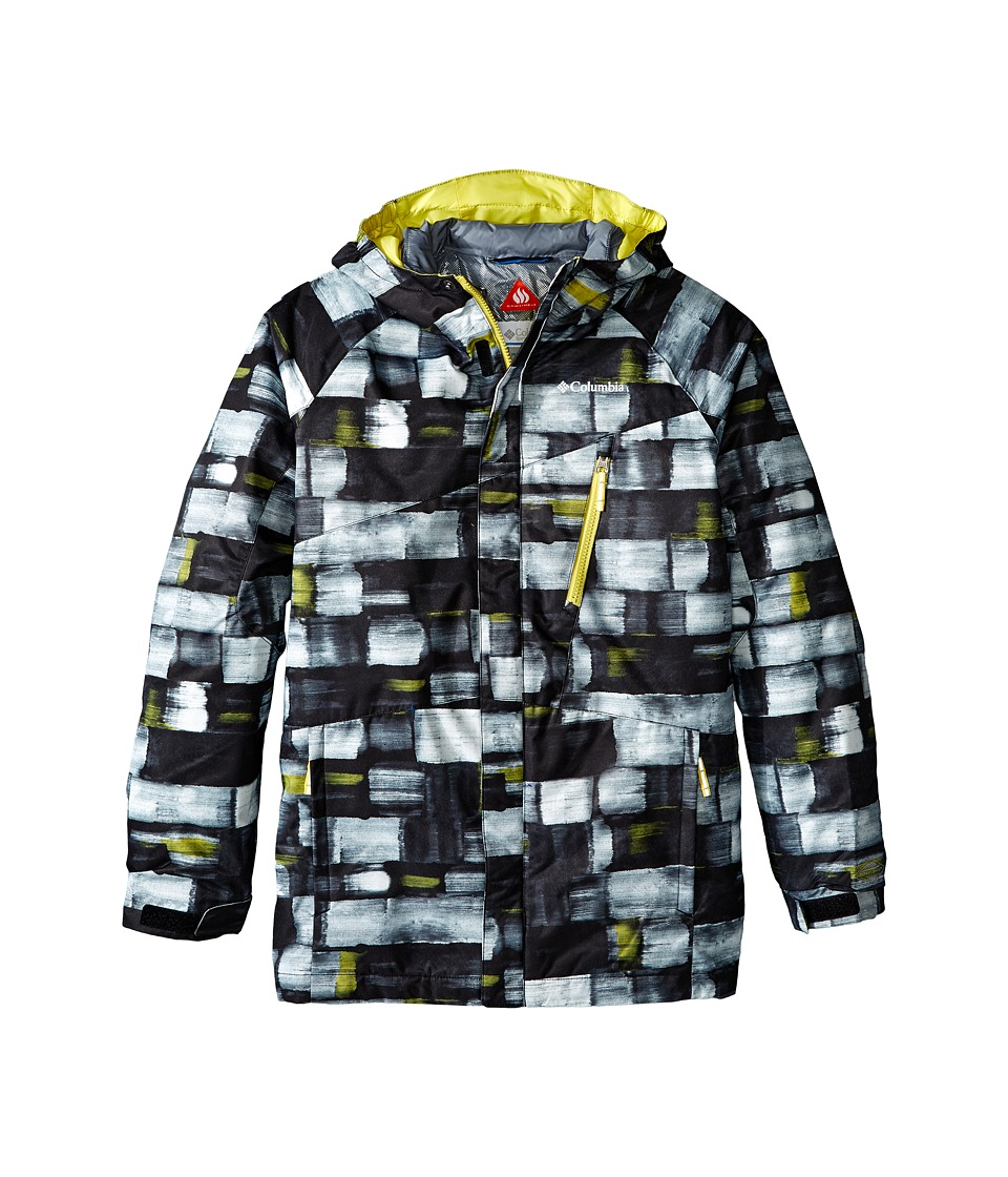 Columbia Kids - Whirlibird Interchange Jacket (Little Kids/Big Kids) (White Brushstroke Print/Mineral Yellow) Boy's Coat