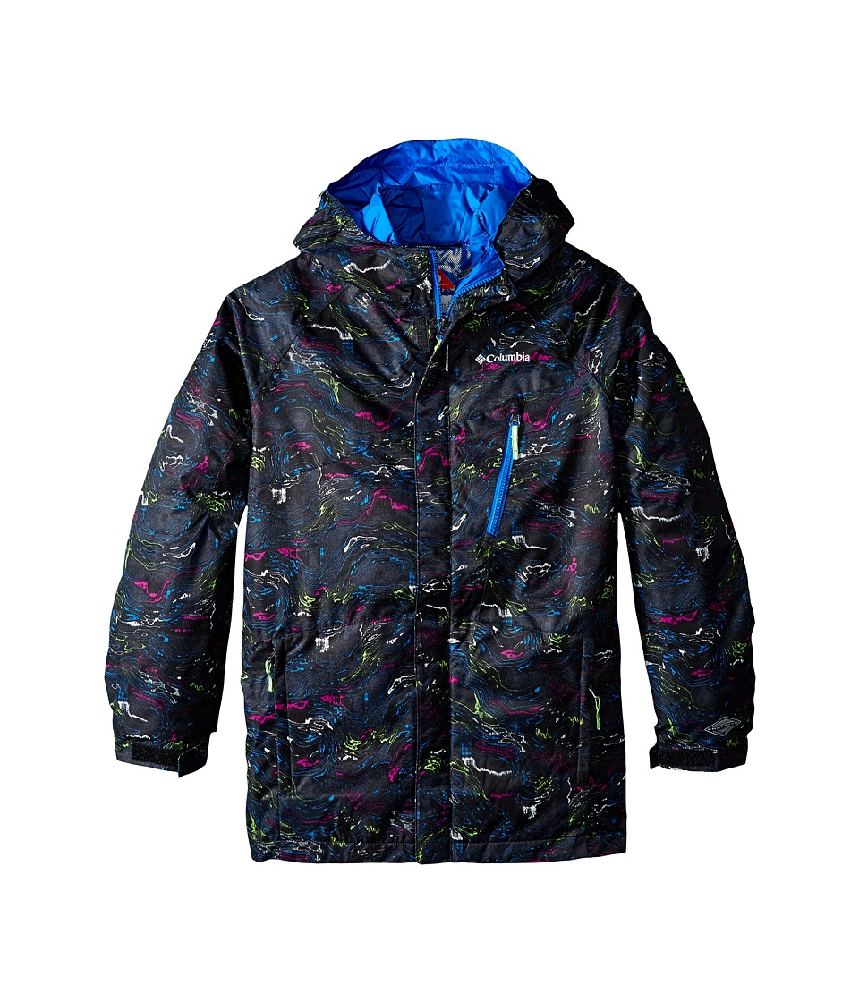Columbia Kids - Whirlibird Interchange Jacket (Little Kids/Big Kids) (Black Oil Slick Print/Super Blue) Boy's Coat