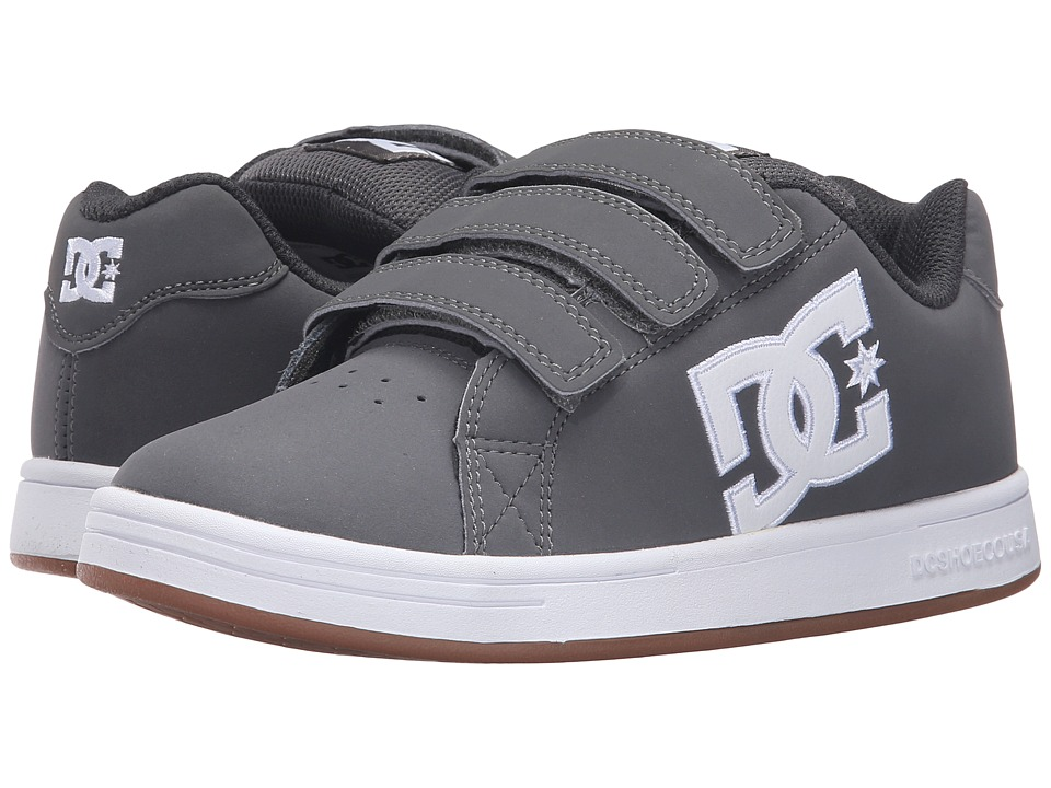 DC Kids - Character V (Big Kid) (Grey/White) Boys Shoes