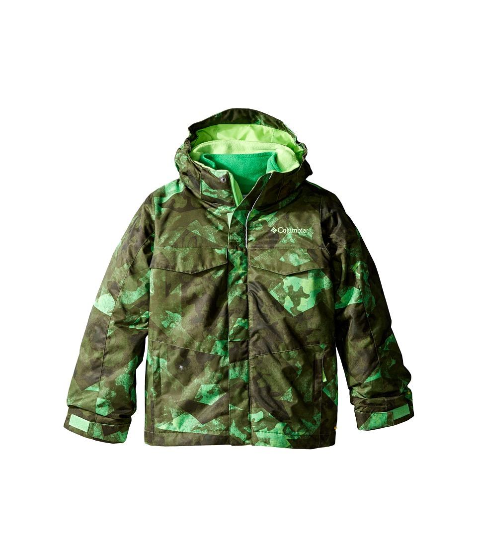 Columbia Kids - Bugaboo Interchange (Little Kids/Big Kids) (Green Mamba Fractured Camo) Boy's Coat