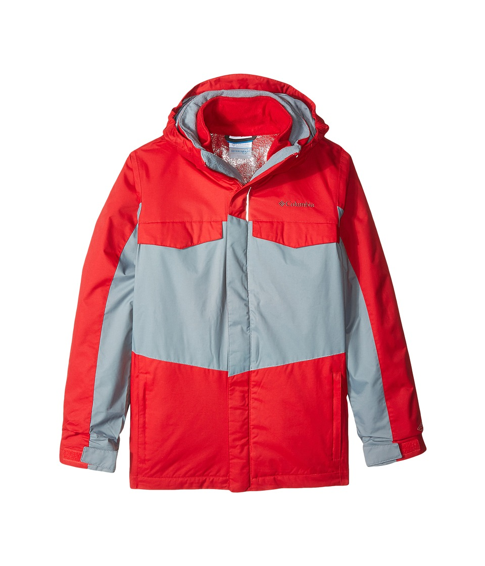 Columbia Kids - Bugaboo Interchange (Little Kids/Big Kids) (Mountain Red/Grey Ash) Boy's Coat