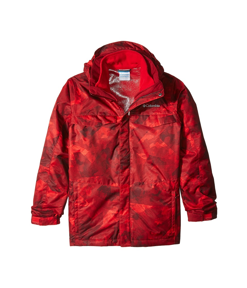 Columbia Kids - Bugaboo Interchange (Little Kids/Big Kids) (Mountain Red Fractured Camo/Jester Red) Boy's Coat