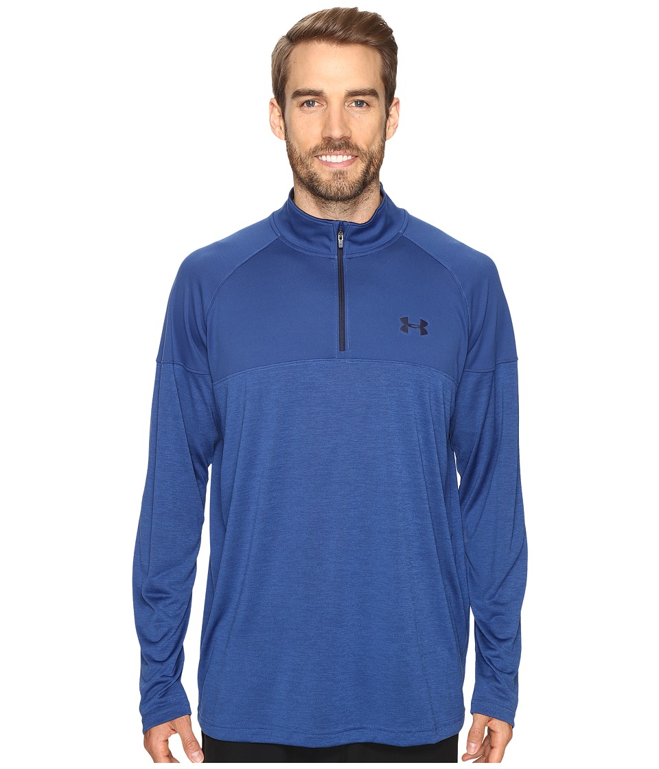 Under Armour - UA Tech Novelty 1/4 Zip Pullover (Heron/Heron/Midnight Navy) Men's Long Sleeve Pullover