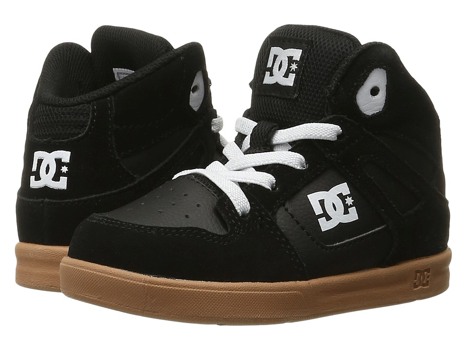 DC Kids - Rebound SE UL (Toddler) (Black/Gum) Boys Shoes
