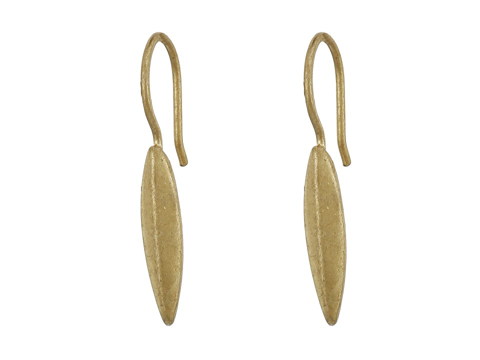 LAUREN Ralph Lauren - Modern Leaves Metal Gold Leaf Drop Earrings (Gold/Crystal) Earring
