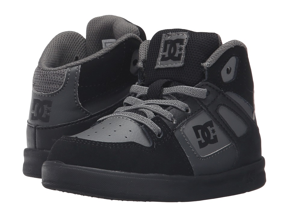 DC Kids - Rebound UL (Toddler) (Grey/Black/Grey) Boys Shoes