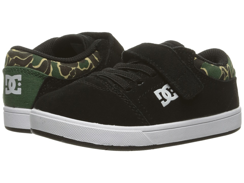 DC Kids - Crisis (Toddler) (Black/Camo Print) Boys Shoes
