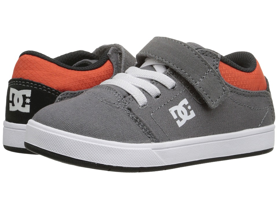 DC Kids - Crisis (Toddler) (Grey/Black/Orange) Boys Shoes