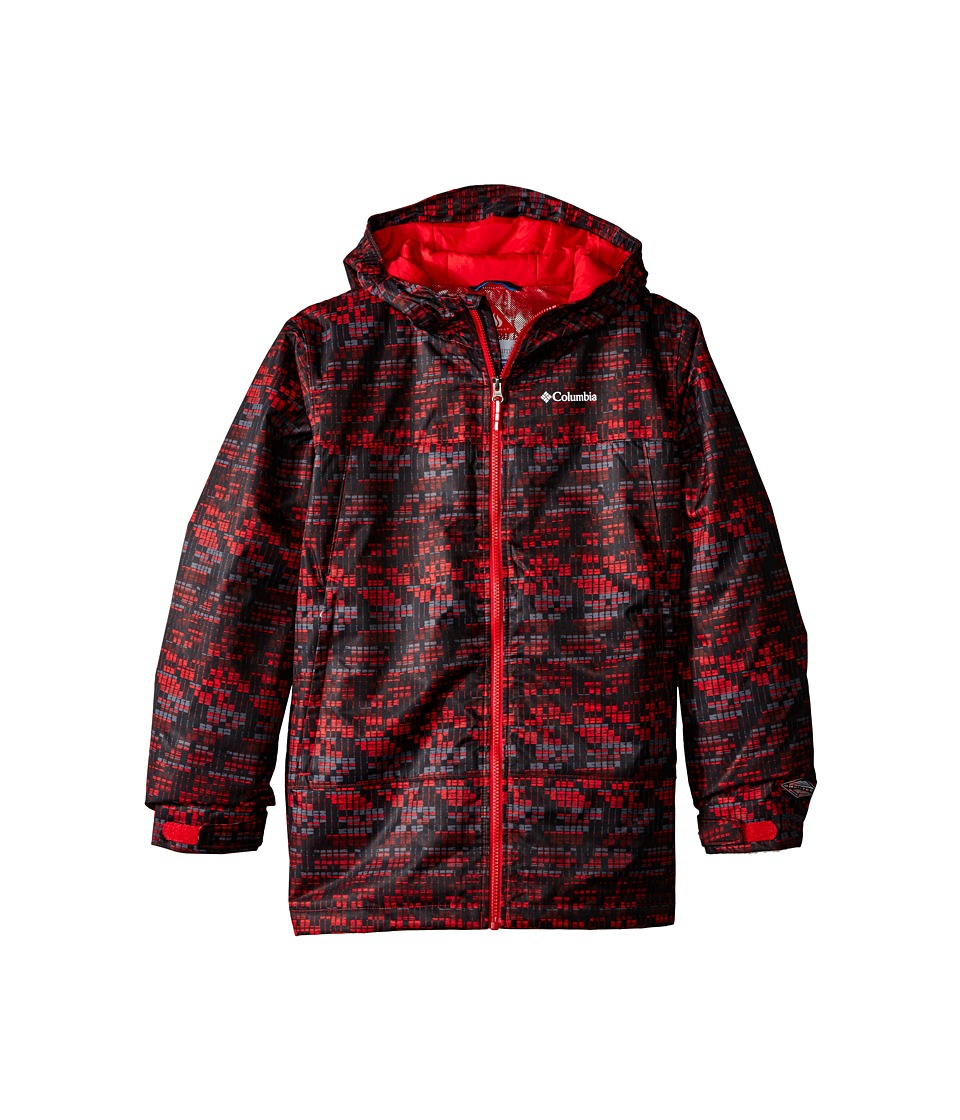 Columbia Kids - Wrecktangle Jacket (Little Kids/Big Kids) (Mountain Red Matrix Print/Mountain Red) Boy's Coat