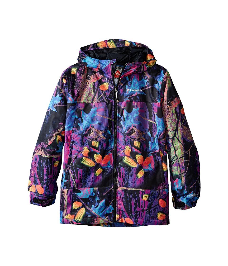 Columbia Kids - Wrecktangle Jacket (Little Kids/Big Kids) (Timberwolf Print/Black Zips/Mineral Yellow Pulls/Logo) Boy's Coat