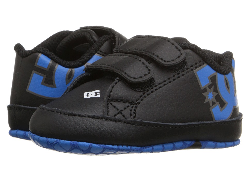 DC Kids - Court Graffik (Infant/Toddler) (Black/Blue/White) Boys Shoes