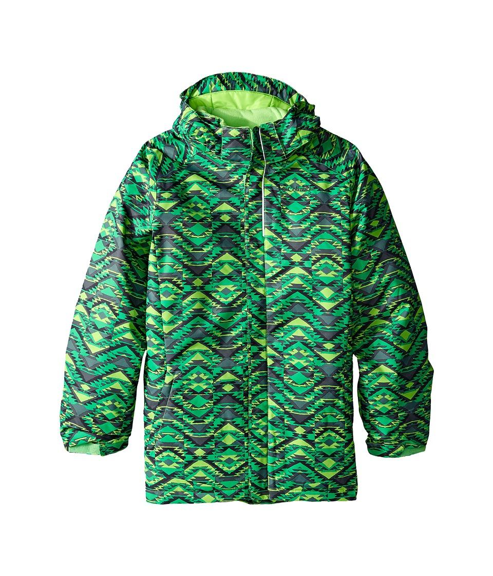 Columbia Kids - Twist Tip Jacket (Little Kids/Big Kids) (Green Mamba Southwestern Print) Boy's Jacket