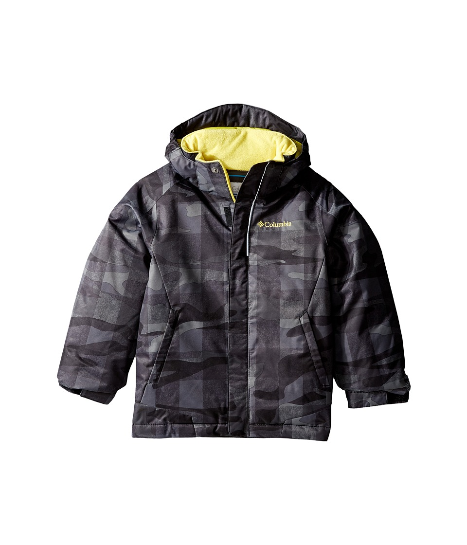 Columbia Kids - Twist Tip Jacket (Little Kids/Big Kids) (Black Buffalo Plaid/Mineral Yellow) Boy's Jacket