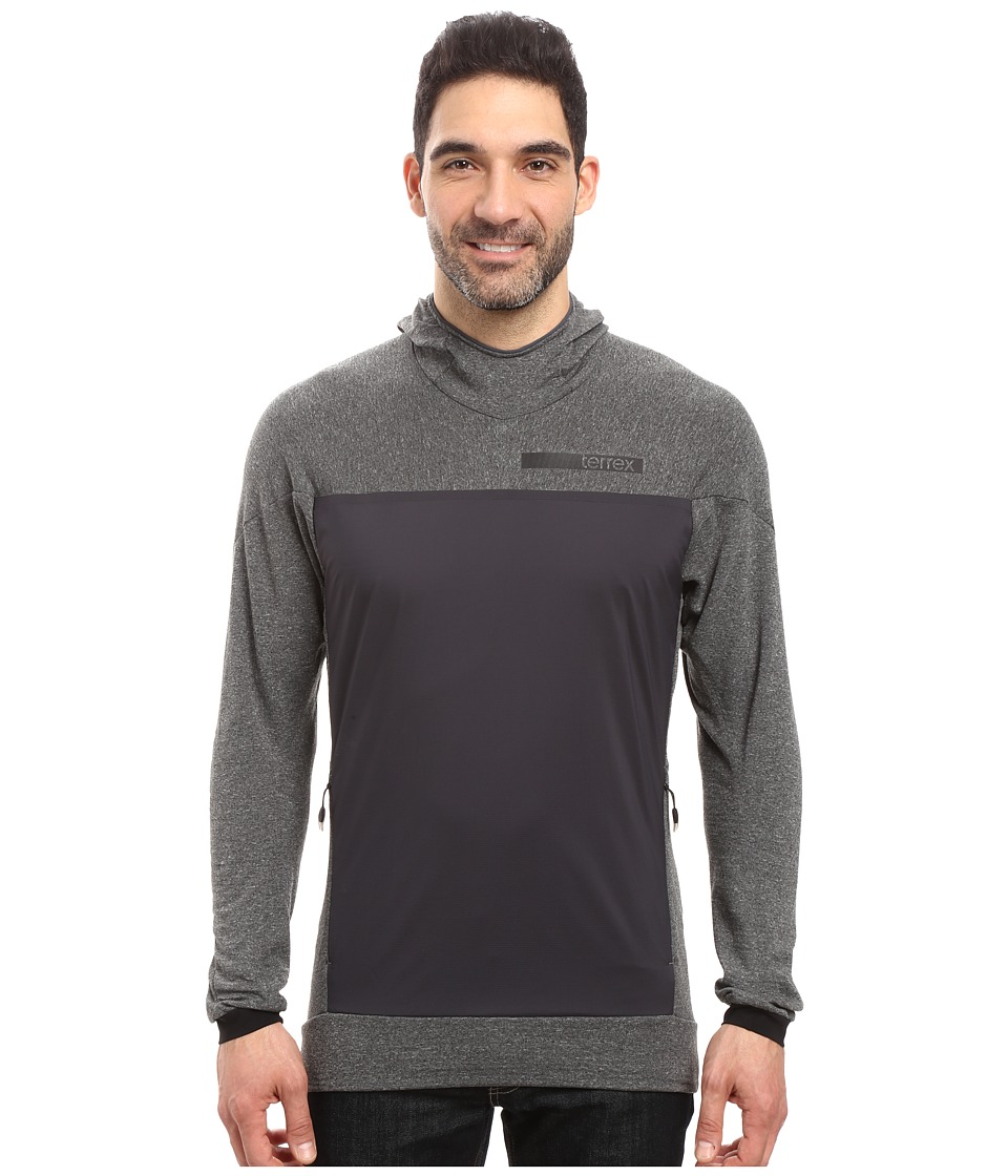 adidas Outdoor - Terrex Solo Wool Hoodie (Dark Grey) Men's Sweatshirt